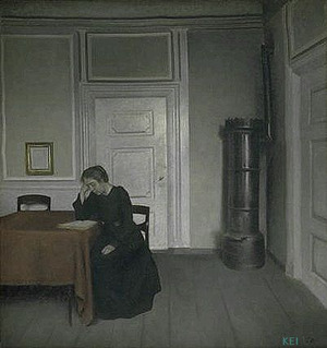 A room in the artist's home, in Strandgade, Copenhagen, with the artist's wife. 1902 Statens Museum for Kunst, Copenhagen