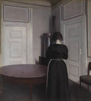 Interior by Vilhelm Hammershøi, 1899 Tate