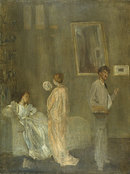 The artists studio 1865 by James McNeill Whistler ジェームズ・マクニール・ホイッスラー kei君、画像アップありがとう。