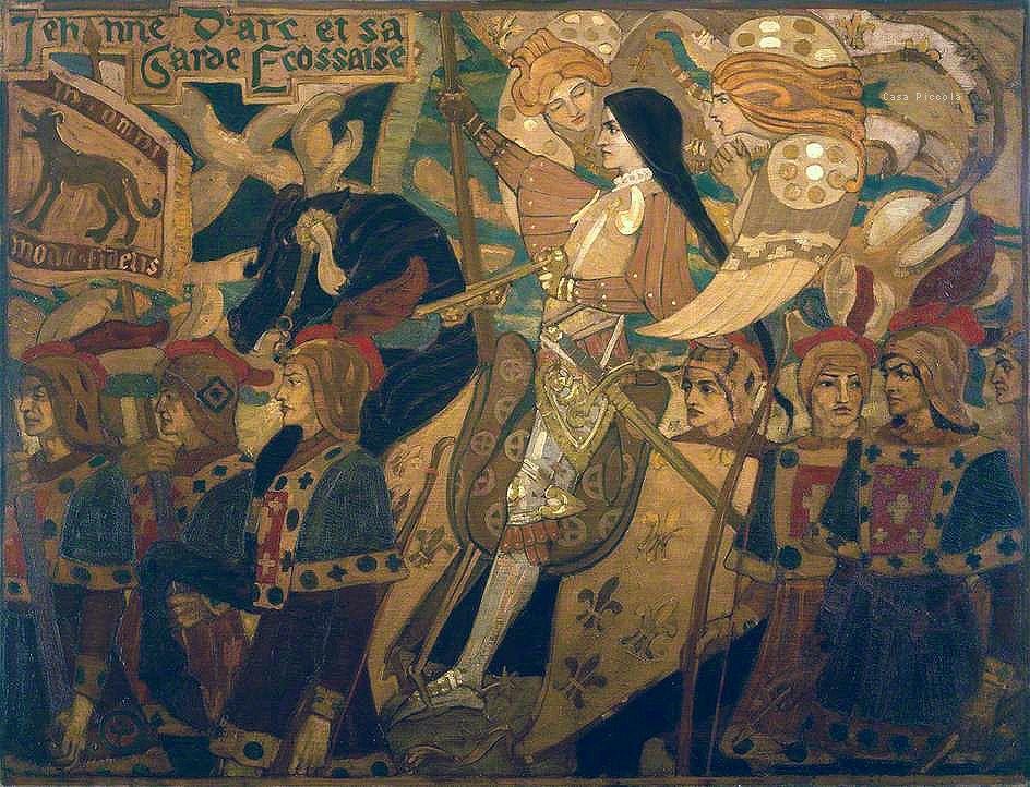 Jehanne d'Arc et sa garde ecossaise by John Duncan