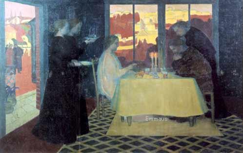 モーリス・ドニ 「エマオの晩餐」 1894年  LES PÉLERINS D'EMMAÜS by Maurice Denisi