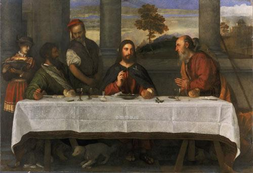 ティッツィアーノ 「エマオの晩餐」 1533年頃  Supper at Emmaus, by Titian National Museums Liverpool